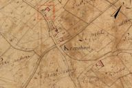Extrait du plan cadastral de 1819, section F2, parcelle n° 488.