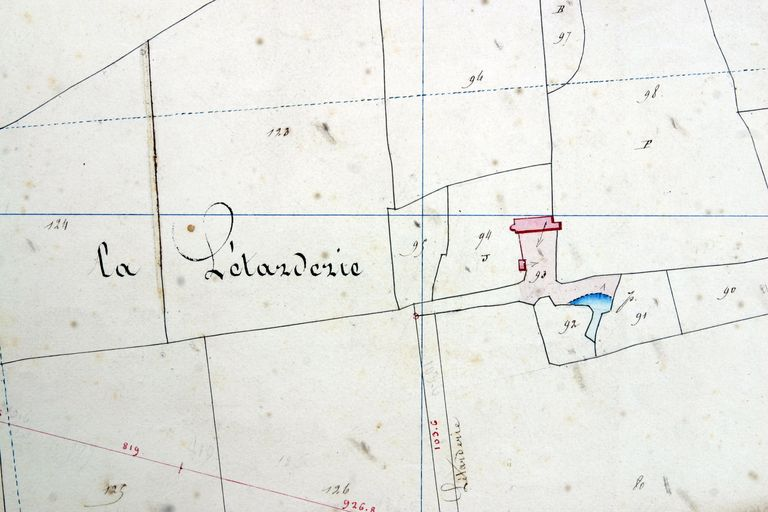 Extrait du plan cadastral de 1842, section D2.