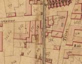 Extrait du plan cadastral de 1819, section Z, parcelle.