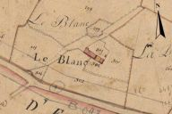 Extrait du plan cadastral de 1819, section H1, parcelle n° 301, 302.