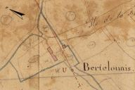 Extrait du plan cadastral de 1819, section D2, parcelle n° 346.