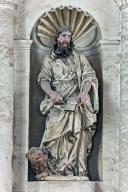 Ensemble de 2 statues : Saint Jacques le Majeur, Saint Marc