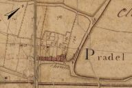 Extrait du plan cadastral de 1819, section Q2.