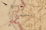Extrait du plan cadastral de 1819, section E2.