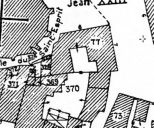 Extrait du plan cadastral de 1989, section AK, parcelle 77.