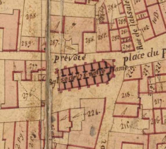 Extrait du plan cadastral de 1819, section Z 278.