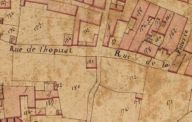 Extrait du plan cadastral de 1819, section Z, parcelle 181.